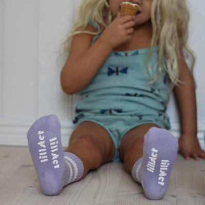 Lillster Purple Tube Baby Sock