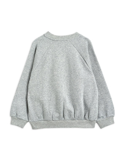 Mini Rodini Cat and Panda Sweatshirt Grey Melange