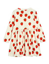 Mini Rodini Strawberry all over long sleeve dress
