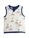 Mini Rodini Sailing Boats Sweatshirt Tank