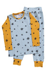 G. Nancy Powder Blue Patchwork Star Long PJ SET (pre-order)