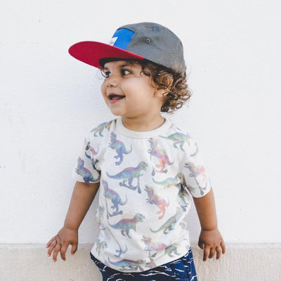 Lil Boo block Red 5 panel