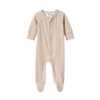 SUSUKOSHI Zipper Growsuit - Beige Speckled