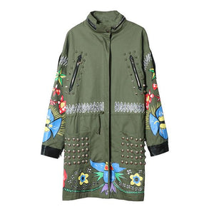 Chaqueta Windbreaker Graffiti Patchwork