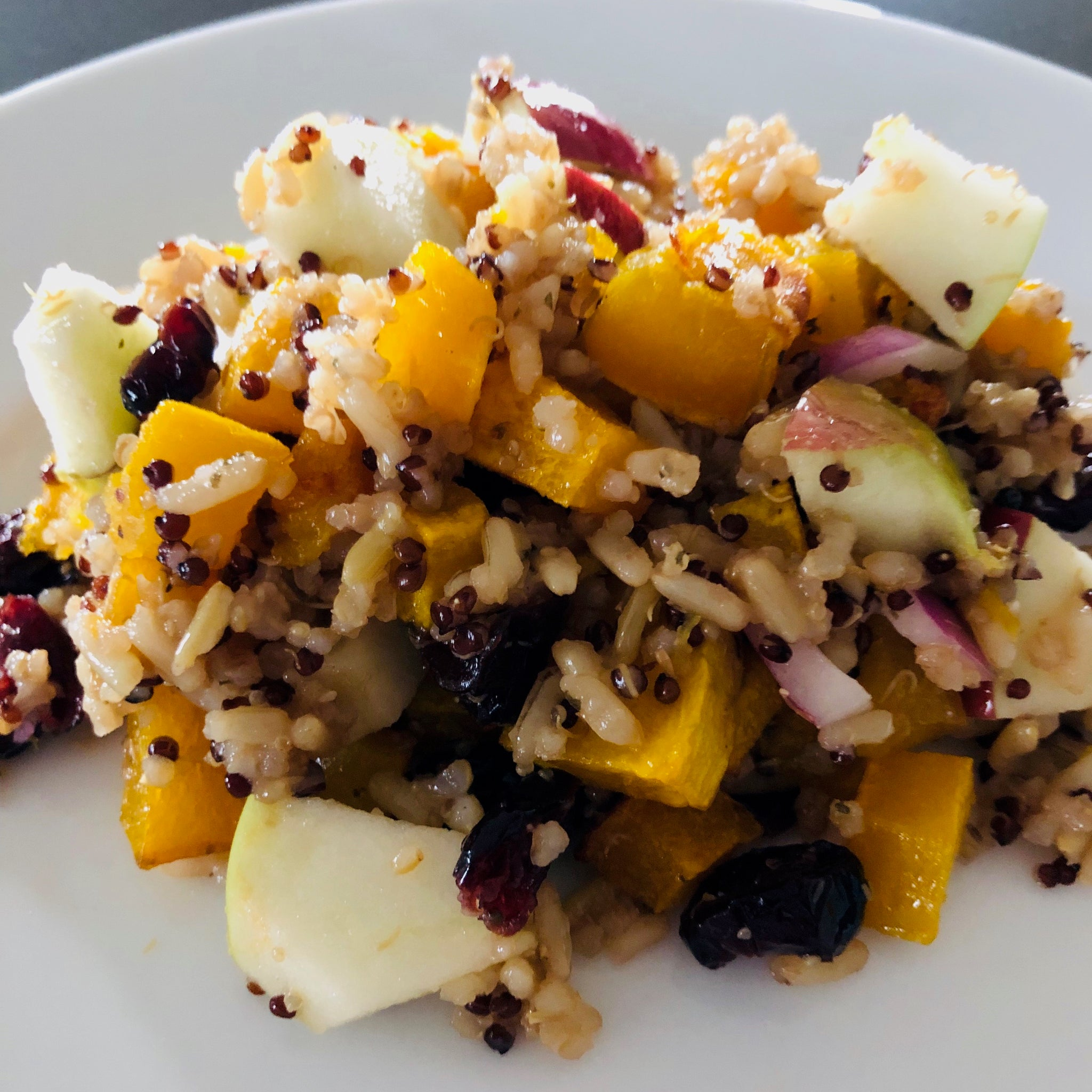 Red Apple Dark Balsamic Quinoa Salad