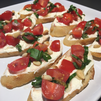 White Bean and Tomato Crostini