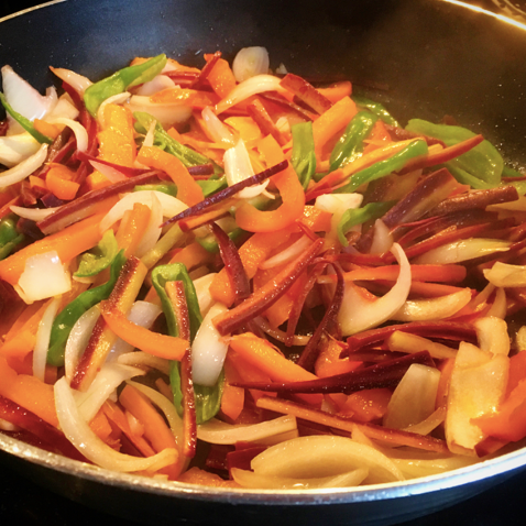 Spicy Asian Veggie Stir Fry