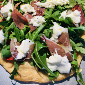 Lemon, Arugula and Prosciutto Flat Bread