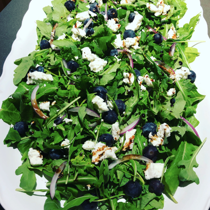 Lemon Blueberry Arugula Salad