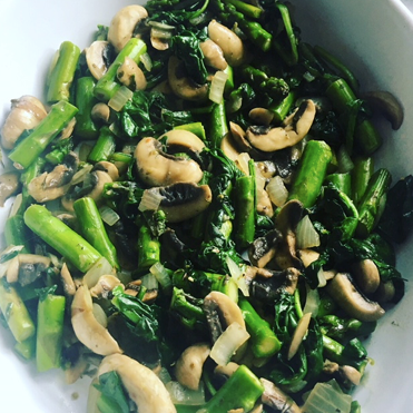 Lemon Asparagus and Mushrooms