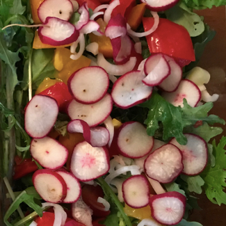 Honey and Pepper Summer Salad