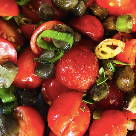 Balsamic Marinated Cherry Tomatoes
