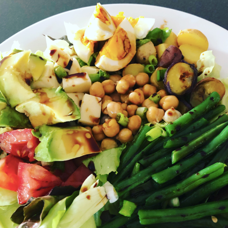 Hearty Summer Veggie Dinner Salad