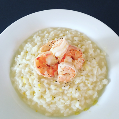 Lemon Risotto with Garlic Shrimp