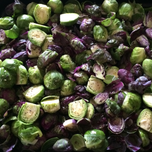 Blood Orange and Maple Roasted Brussel Sprouts