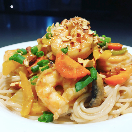 Sesame and Coconut Shrimp Stir Fry