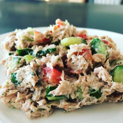 Protein Packed Creamy Dilly Tuna Salad