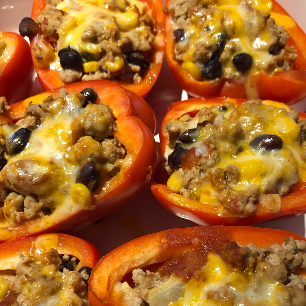 Chipotle Turkey Stuffed Peppers