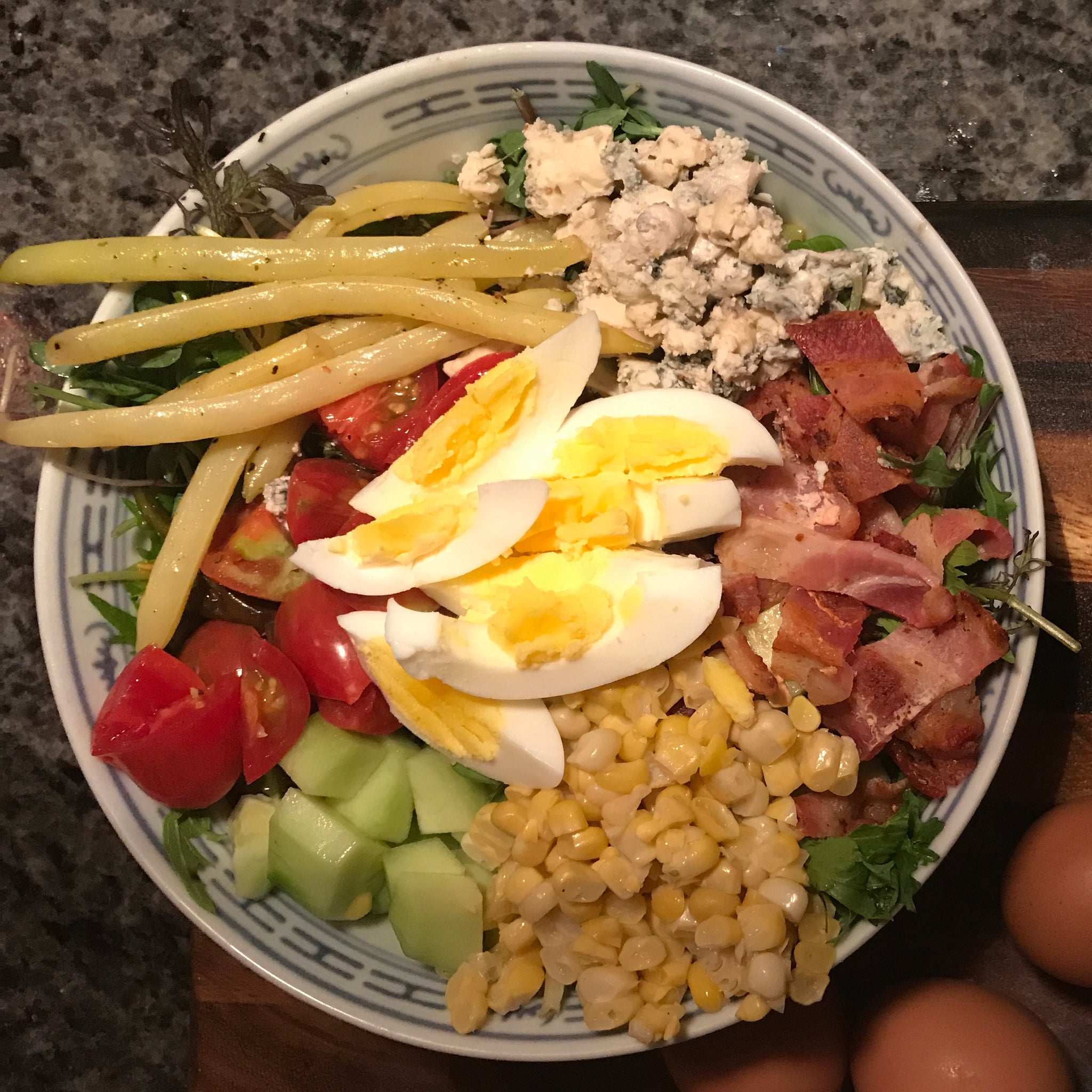 Cobb Salad with Dill Pepper and Honey Dressing