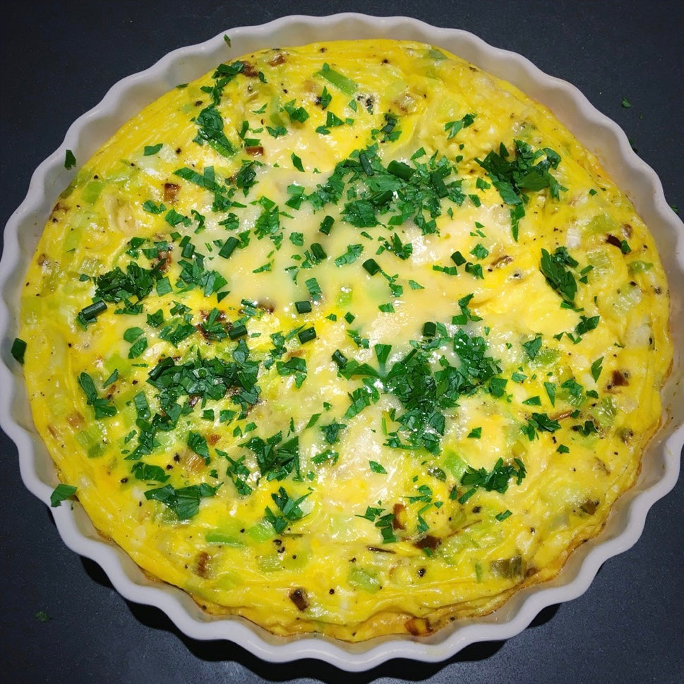 Tuscan Bacon and Leek Crustless Quiche