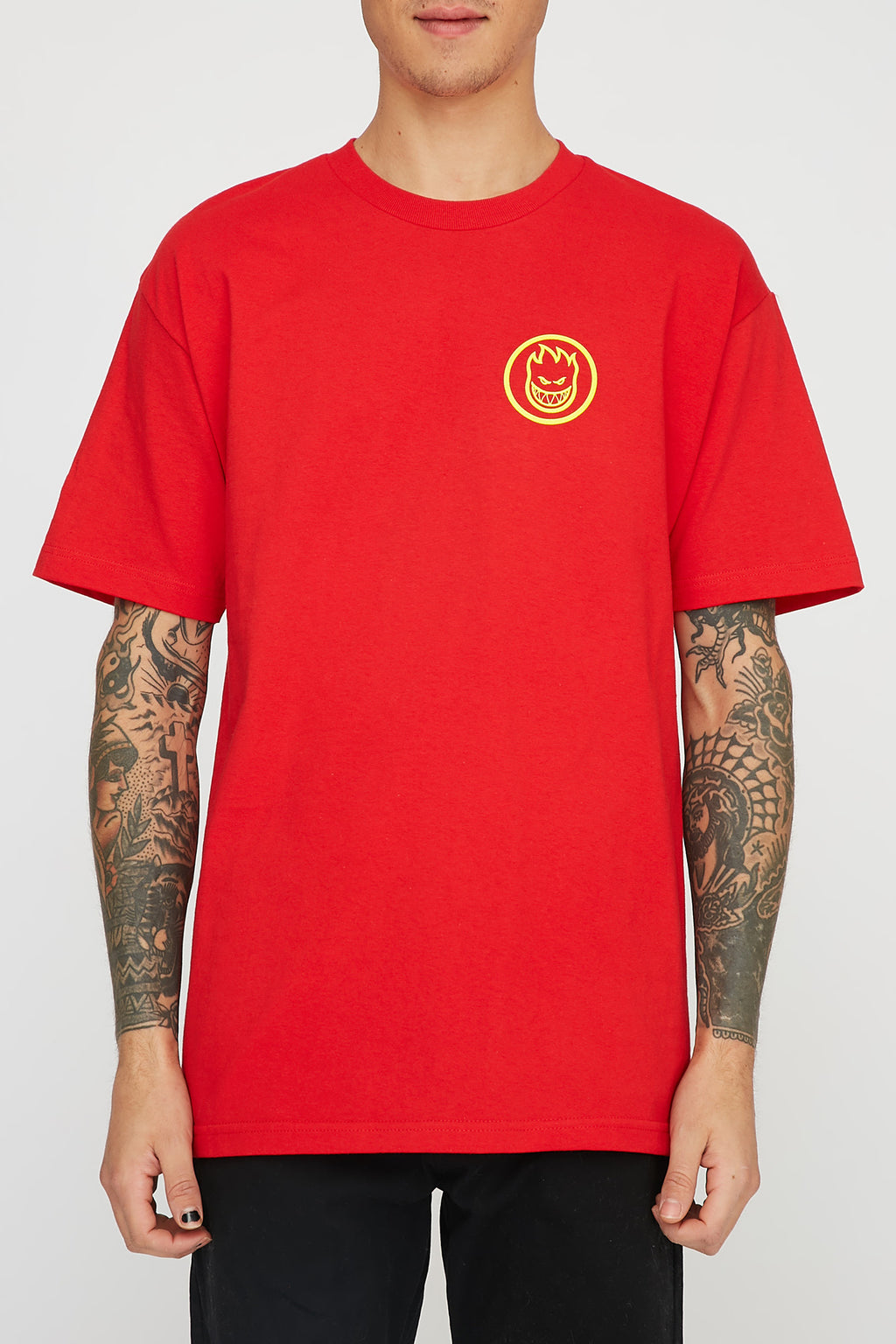 Spitfire Mens Classic Red Swirl T-Shirt