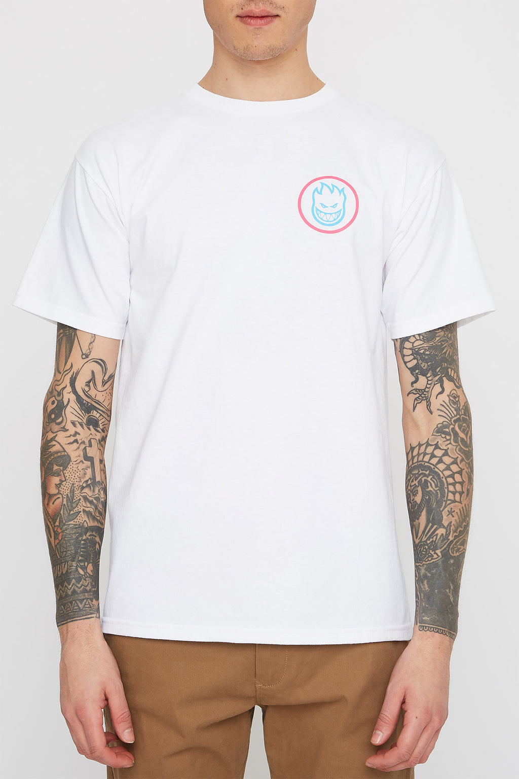 Spitfire Mens White Swirl T-Shirt