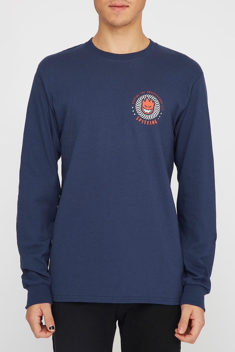 Spitfire Mens K.T.U.L Navy Long Sleeve