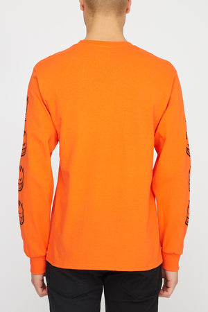 Spitfire Mens Old English Orange Long Sleeve