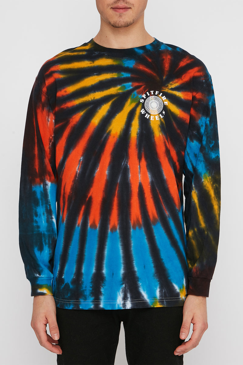 Spitfire Mens Swirl Tie Dye Long Sleeve