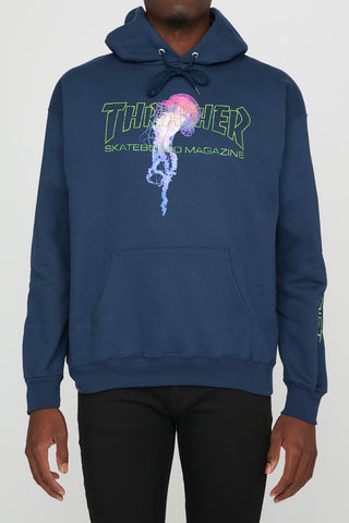Thrasher Mens Atlantic Drift Navy Hoodie