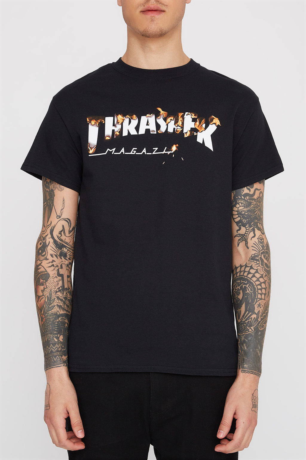 5d5cf2d1bdfe Thrasher Mens Intro Burner T-Shirt