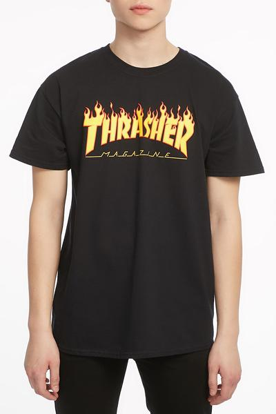 Thrasher Mens Flame Logo T-Shirt