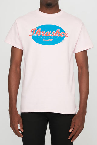 Thrasher Guys Oval Pink Tee