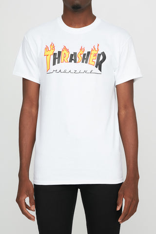 Thrasher Guys Black Flame Tee