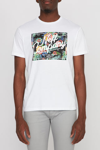 Neff Mens Floral White Tee
