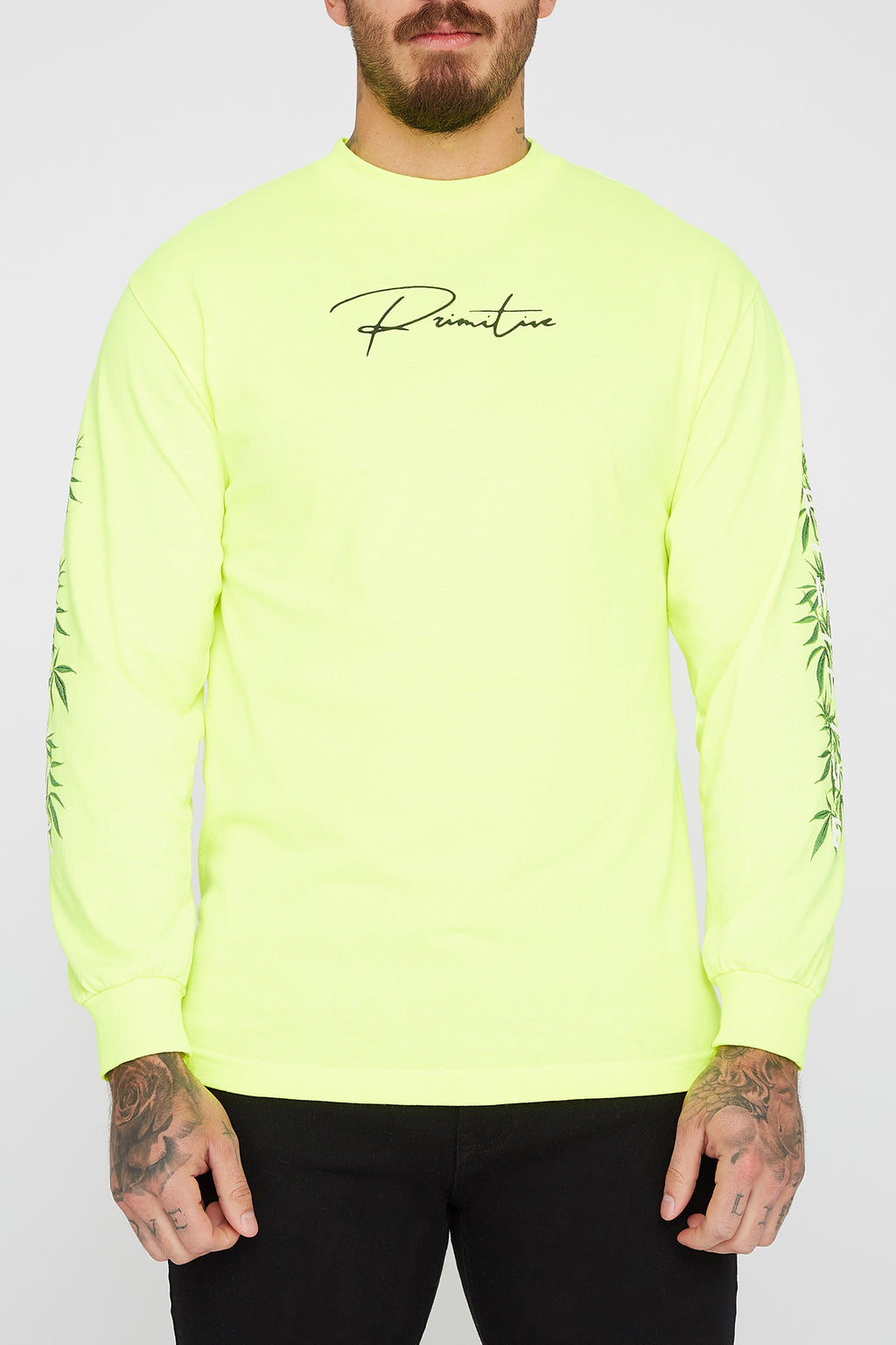 Primitive Mens Fluorescent Long Sleeve Shirt