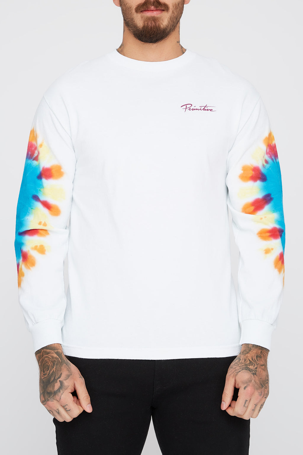 Primitive Mens Tie-Dye Long Sleeve T-Shirt