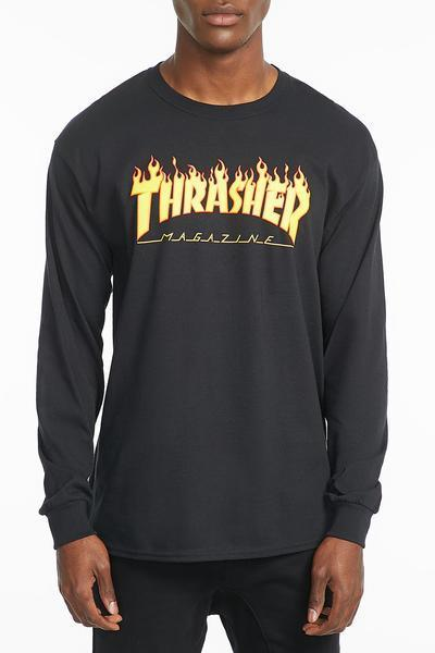 Thrasher Mens Long Sleeve Flame Tee  afe095e60ea9