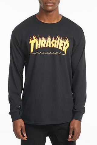 Thrasher Mens Long Sleeve Flame Tee