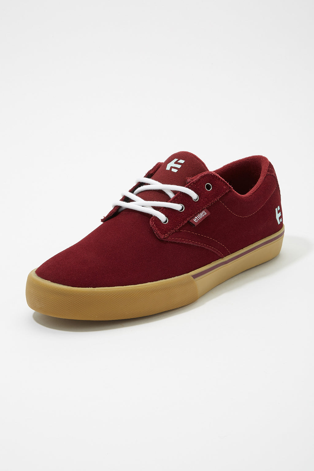Etnies Mens Burgundy Jameson Vulc Shoes