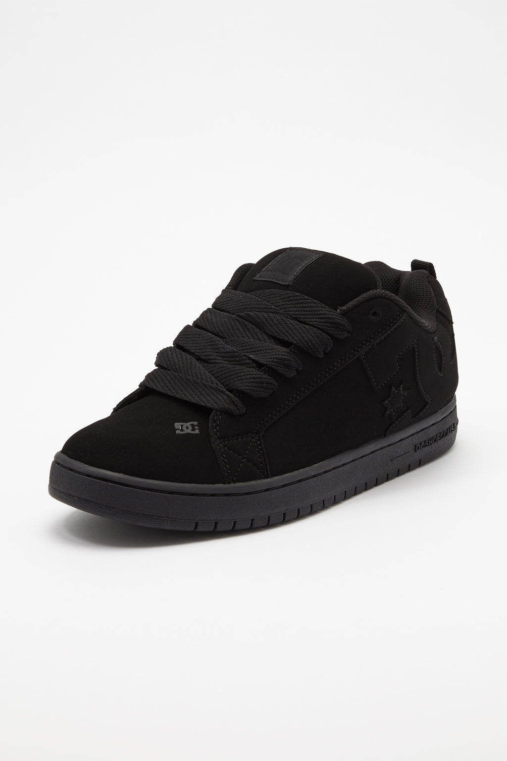 DC Mens All Black Court Graffik Shoes