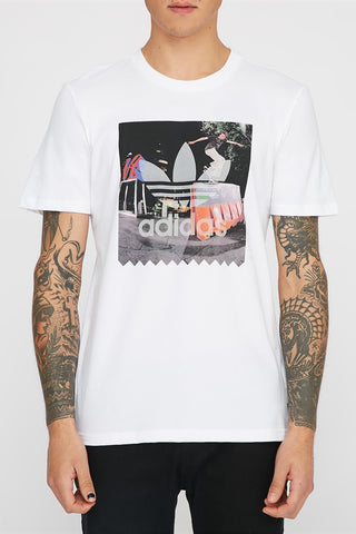 Adidas Mens Blackbird White T-Shirt