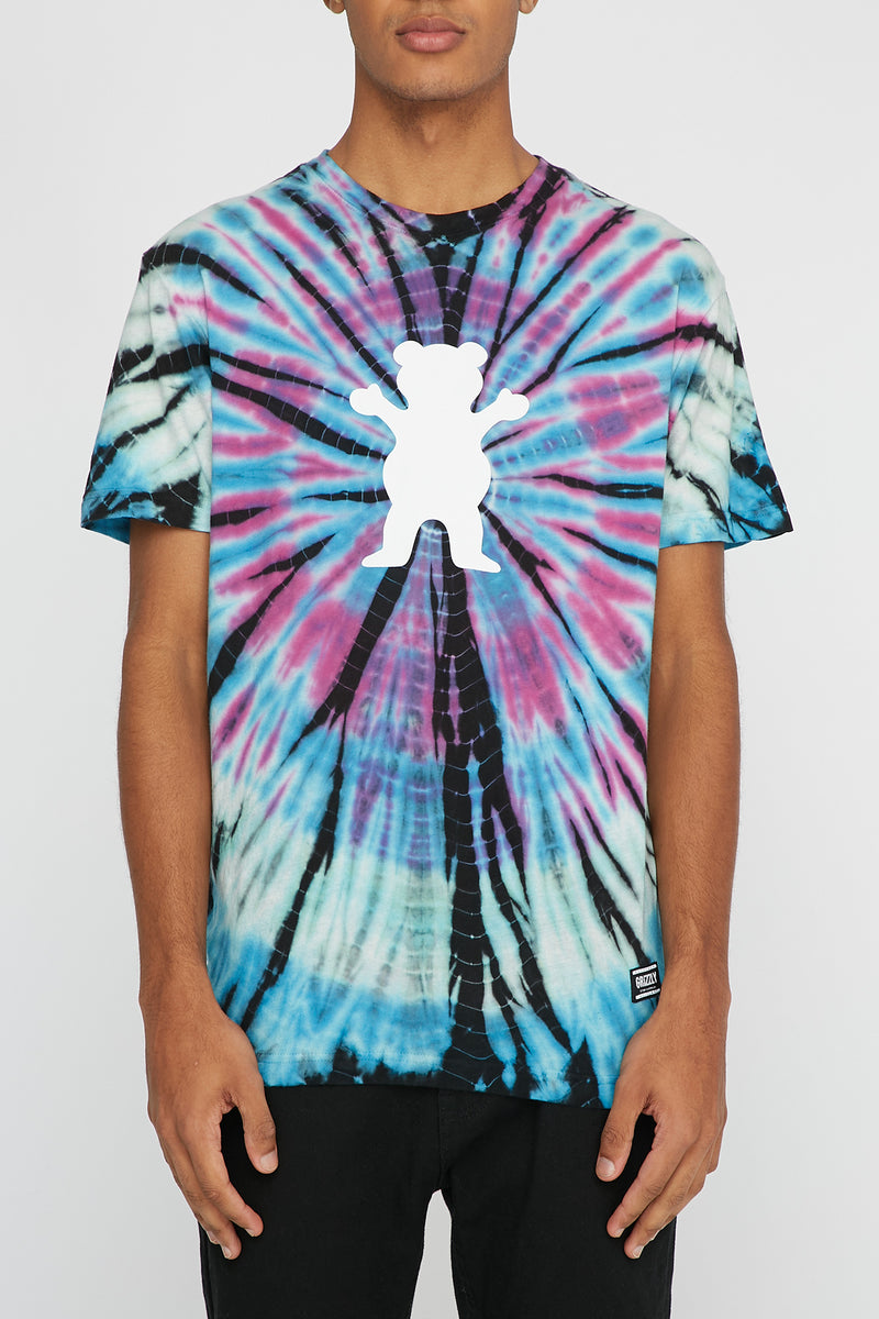 Grizzly Mens Nice Trip Tie Dye T-Shirt