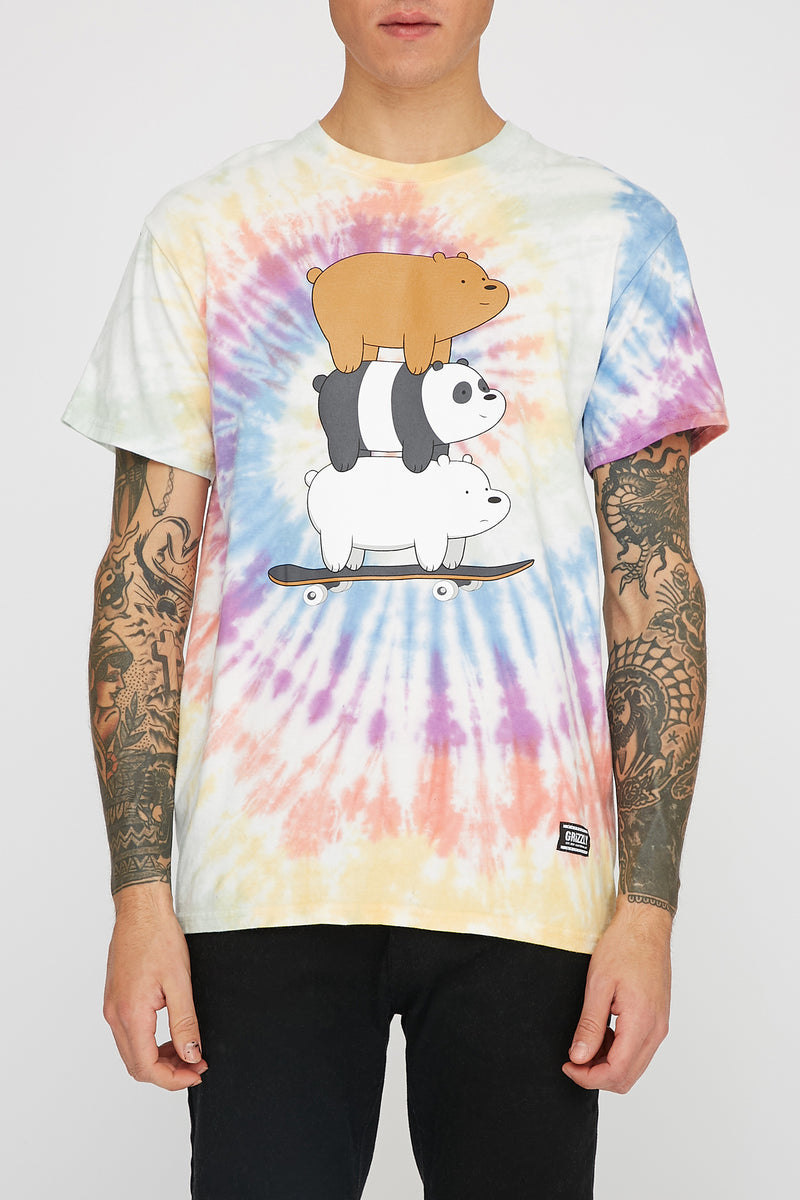 Grizzly x We Bare Bears Mens Stacked Ride T-Shirt