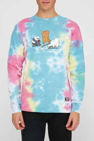 Grizzly x We Bare Bears Mens Kickflip Long Sleeve