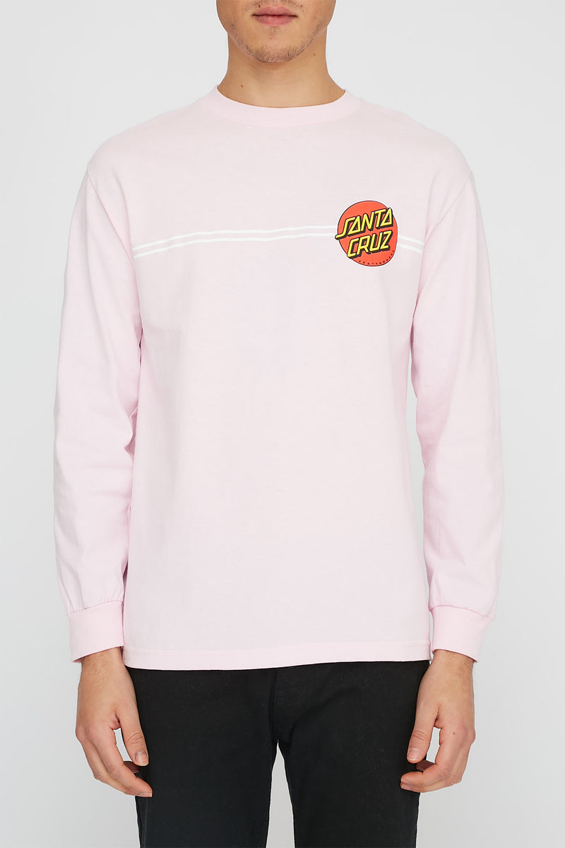Santa Cruz Mens Classic Dot Pink Long Sleeve