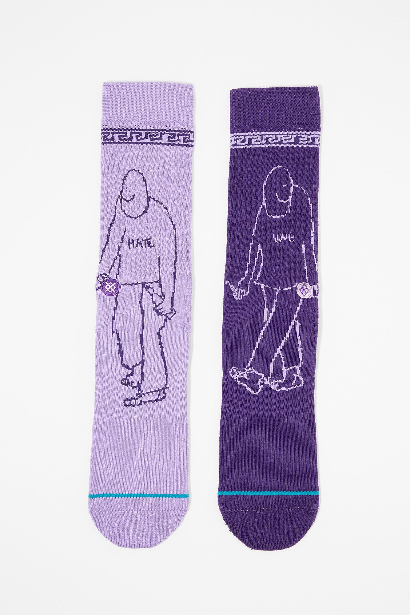 Stance Mens Love Hate Krooked Crew Socks