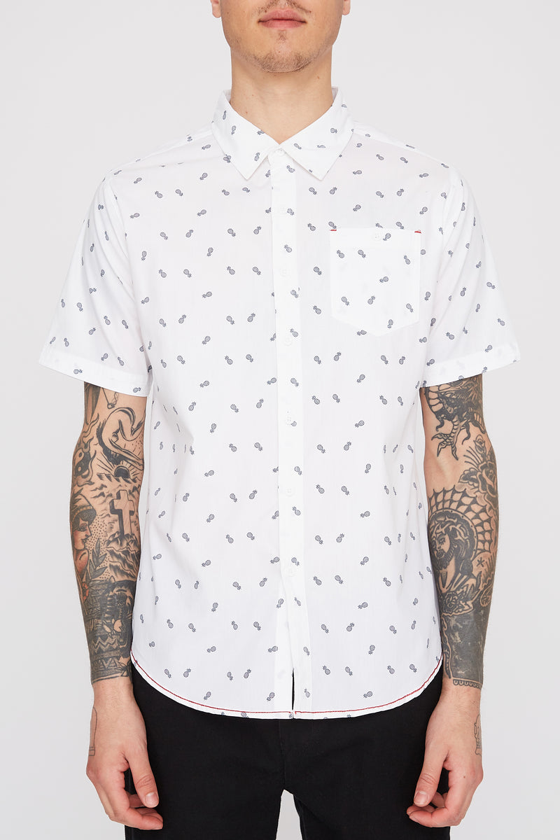 West49 Mens Pineapple Ditsy Shirt
