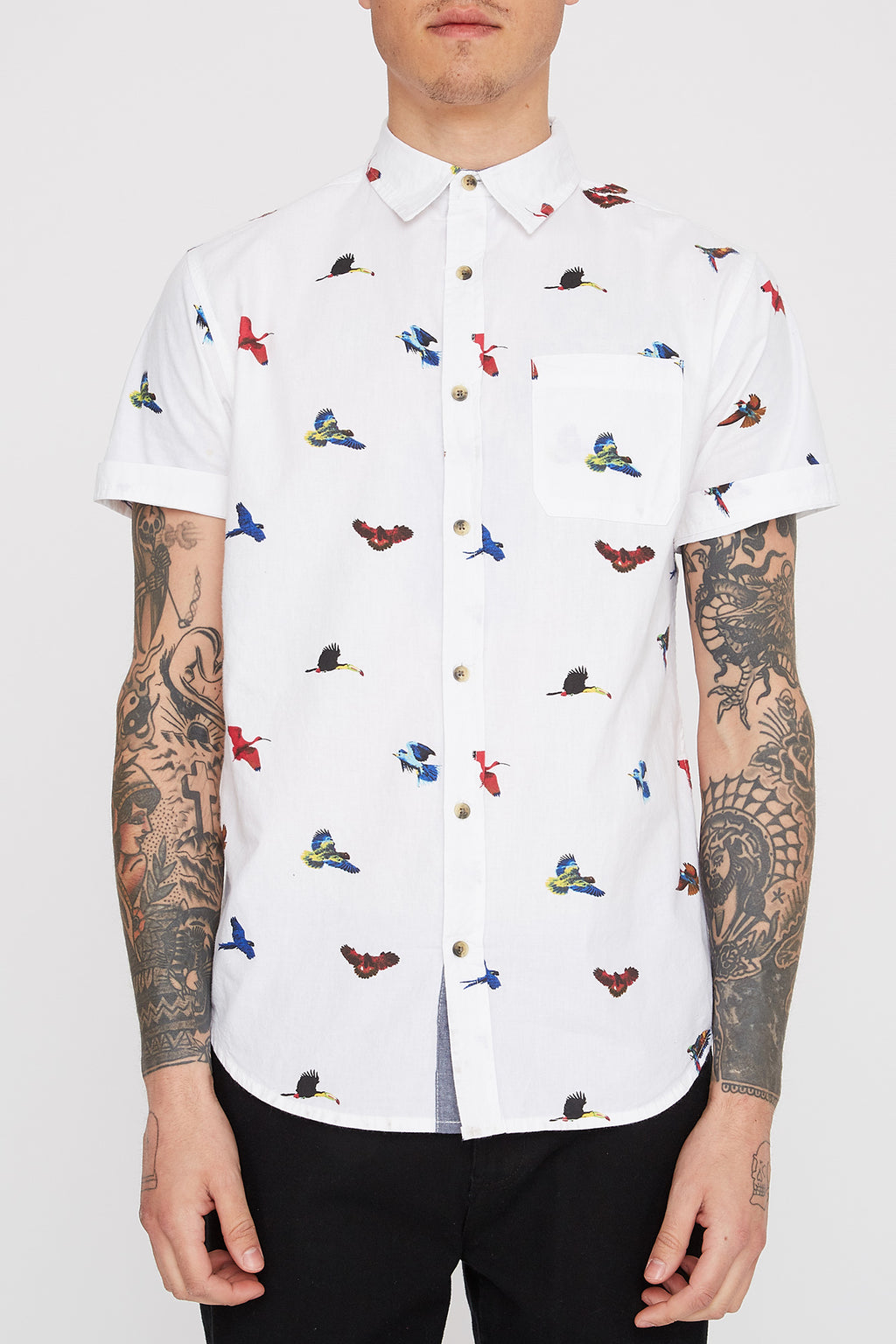 West49 Mens Birds Poplin Shirt