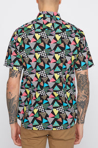 Mens Retro Button Up Shirt